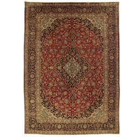 Handmade Herat Oriental Persian Kashan Wool Rug (Iran) - 9'6 x 13'3