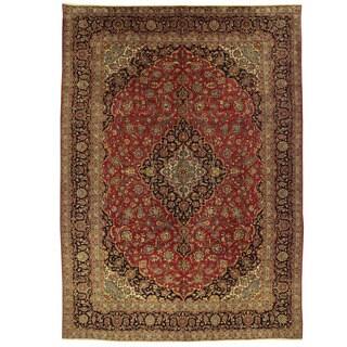 Herat Oriental Persian Hand-knotted Kashan Wool Rug (9'6 x 13'3)