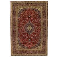 Herat Oriental Persian Hand-knotted Kashan Wool Rug (9'6 x 14')