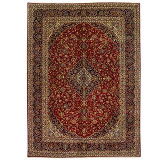 Herat Oriental Persian Hand-knotted Kashan Wool Rug (9'10 x 13'2)