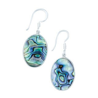 Handmade Silver Natural Abalone Dangle Earring (Mexico)