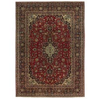 Herat Oriental Persian Hand-knotted Isfahan Wool Rug (8'4 x 11'9)
