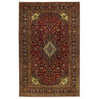 Herat Oriental Persian Hand-knotted Isfahan Wool Rug (7'10 x 12'2)