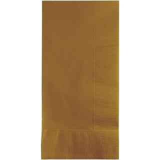 Touch of Color Dinner Napkins 2Ply Glittering Gold ,Case of 600