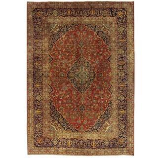 Herat Oriental Persian Hand-knotted Kashan Wool Rug (8'1 x 11'5)