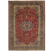 Herat Oriental Persian Hand-knotted Isfahan Wool Rug (9'10 x 13'5)