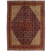 Herat Oriental Persian Hand-knotted Mahal Wool Rug (9'11 x 12'8)