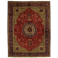 Herat Oriental Persian Hand-knotted Tabriz Wool Rug (9'8 x 12'8)