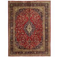 Herat Oriental Persian Hand-knotted Mashad Wool Rug - 9'8 x 12'8