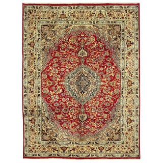 Herat Oriental Persian Hand-knotted Isfahan Wool Rug (9'7 x 13')