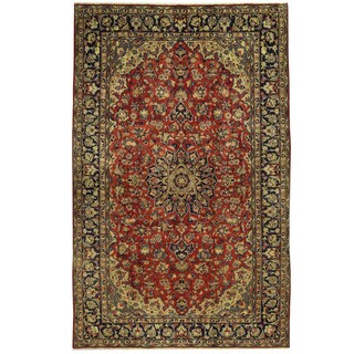 Herat Oriental Persian Hand-knotted Isfahan Wool Rug (6'9 x 10'10)