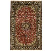 Handmade Herat Oriental Persian Isfahan Wool Rug - 6'9 x 10'10 (Iran)