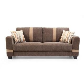 LYKE Home Fabric Two-tone Contemporary Sofa
