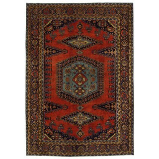 Herat Oriental Persian Hand-knotted Wiss Wool Rug (7'6 x 10'9)