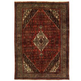 Herat Oriental Persian Hand-knotted Hamadan Wool Rug (7'1 x 10'2)