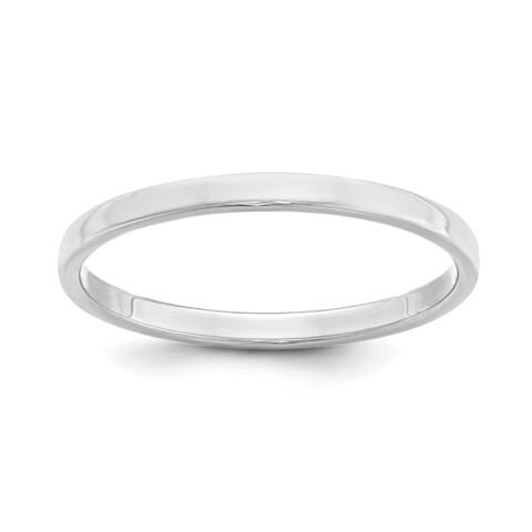Versil Sterling Silver 2mm Flat Band