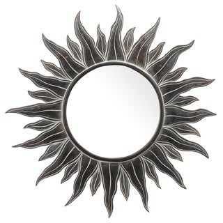 Handmade Apollo Antiqued Sun Mirror 38 Inch (Bali)