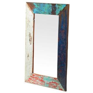 Handmade Grant Weathered Vintage Wall Mirror 36x24 (Bali)