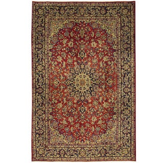 Herat Oriental Persian Hand-knotted Isfahan Wool Rug (8'3 x 12'9)
