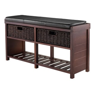 Link to Colin Cushion Bench with Baskets Similar Items in Living Room Furniture