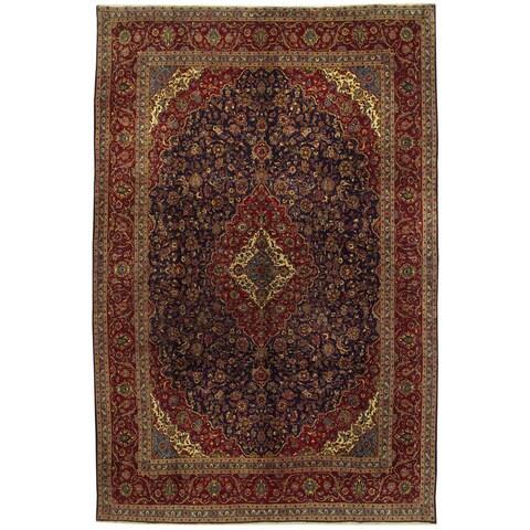 Handmade Herat Oriental Persian Kashan Wool Rug - 10' x 15'1 (Iran)
