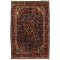 Herat Oriental Persian Hand-knotted Kashan Wool Rug (10' x 15'1)
