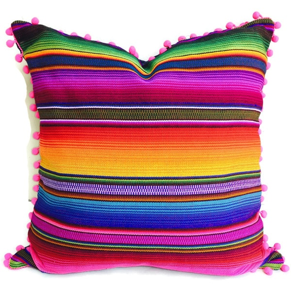 Handmade Hacienda Pillow Cover (Guatemala)