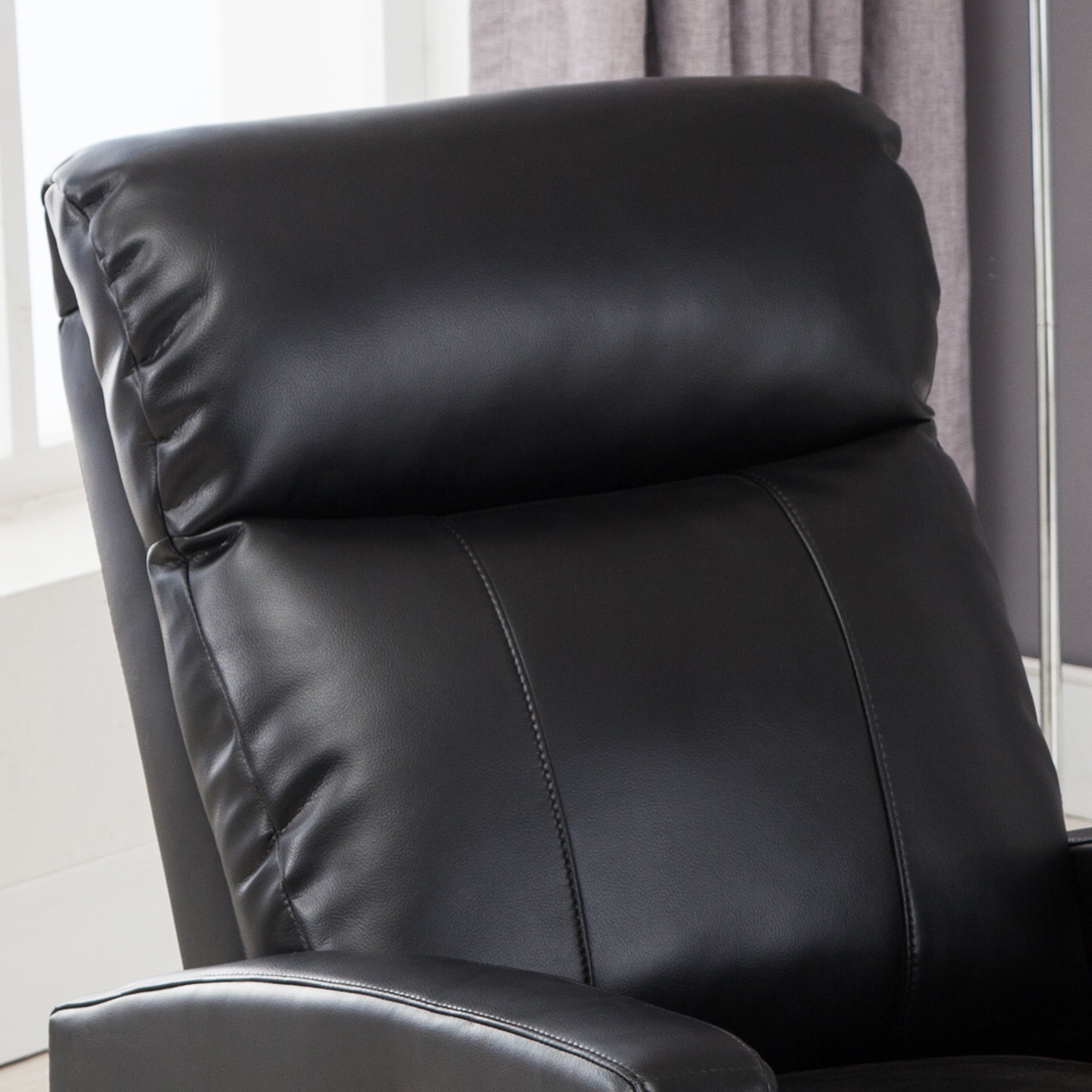 Super Ac Pacific Modern Faux Leather Small Powered Reading Recliner Machost Co Dining Chair Design Ideas Machostcouk