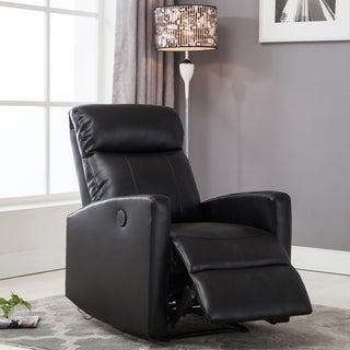 AC Pacific Modern Faux Leather Small Powered Reading Recliner