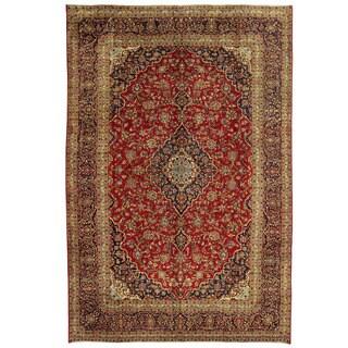 Herat Oriental Persian Hand-knotted Kashan Wool Rug (10' x 14'10)