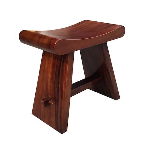 Handmade Java Teak Accent Stool (Indonesia)