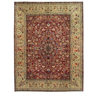 Herat Oriental Persian Hand-knotted Yazd Wool Rug (10' x 13')