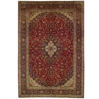 Handmade Herat Oriental Persian Kashan Wool Rug - 9'9 x 14'9 (Iran)