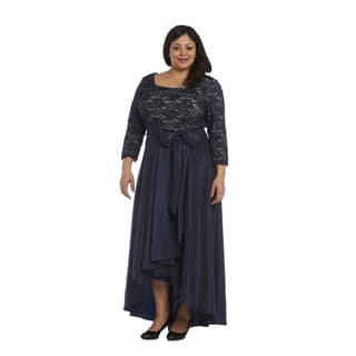 R&M Richards Plus Size Hi Lo Dress|https://ak1.ostkcdn.com/images/products/15807073/P22222076.jpg?impolicy=medium