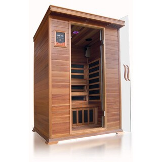 Sierra 2-person Infrared Cedar Sauna with Carbon Heaters