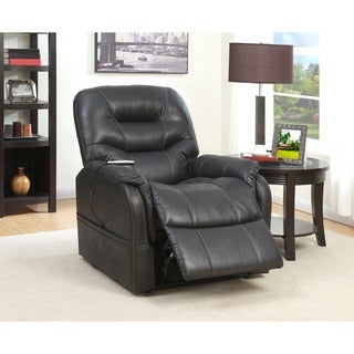 Modesto Bark Fabric Heat And Massaging Lift Chair Free