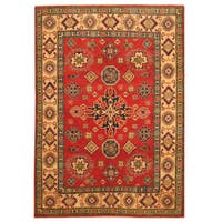 Herat Oriental Afghan Hand-knotted Tribal Kazak Wool Rug (4'10 x 6'11)