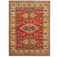 Herat Oriental Afghan Hand-knotted Tribal Kazak Wool Rug (5'1 x 6'10)