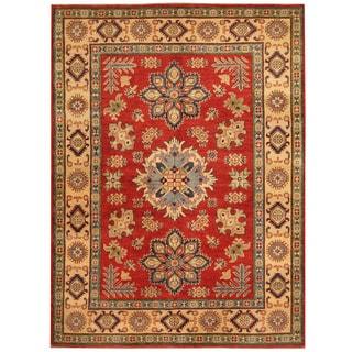 Herat Oriental Afghan Hand-knotted Tribal Kazak Wool Rug (5'2 x 7')