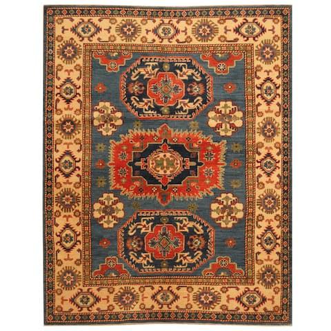 Handmade One-of-a-Kind Kazak Wool Rug (Afghanistan) - 5'1 x 6'5