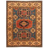 Handmade Herat Oriental Afghan Tribal Kazak Wool Rug - 5'1 x 6'5 (Afghanistan)