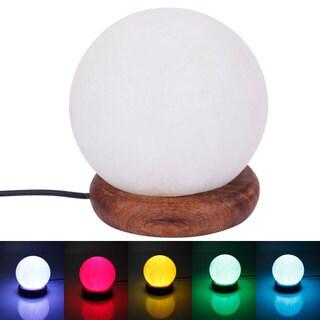 USB Powered 7 LED Colors Spherosome Natural Rock Himalaya Salt Lamp spherical/naturally/quadrate/diamond