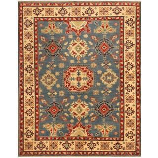 Herat Oriental Afghan Hand-knotted Tribal Kazak Wool Rug (5'8 x 6'7)