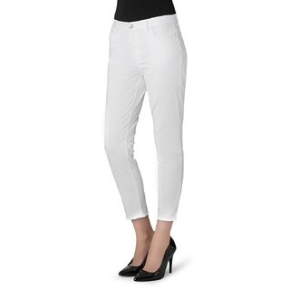 J Brand Tessa White High Rise Cotton Tapered Crop Jeans