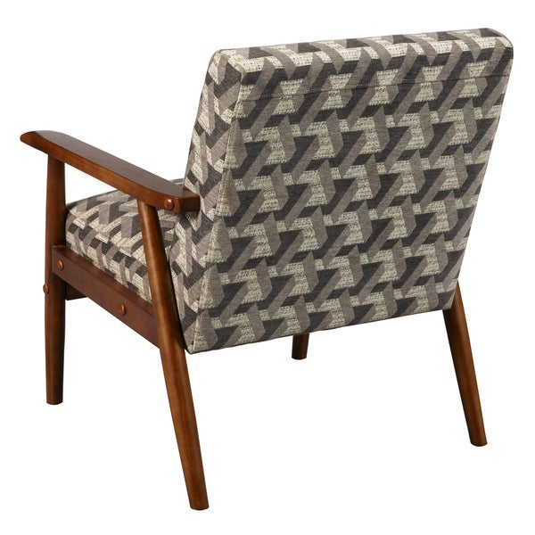 Wood Frame Accent Chair in Prism Flannel - Free Shipping Today ...