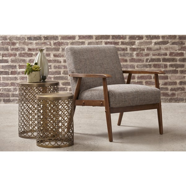 Shop Calypso Waterfall Wood Frame Accent Chair Free Shipping Today