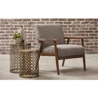 Calypso Waterfall Wood Frame Accent Chair