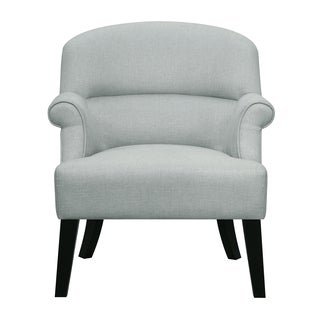 Sateen Fog Upholstered Roll Arms Accent Chair