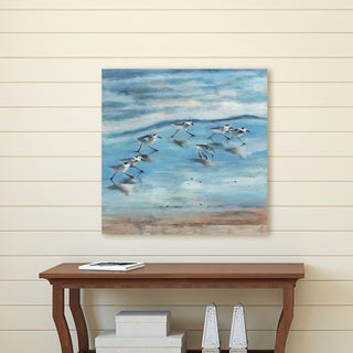 Portfolio Canvas Décor Sandpipers II by Sandy Doonan Wrapped Canvas Wall Art, 24x24