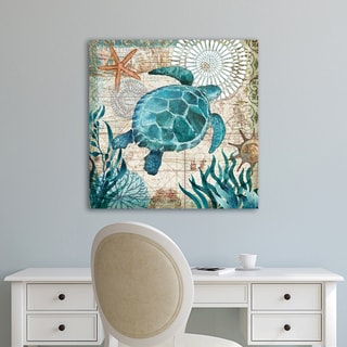 Portfolio Canvas Décor Monterey Bay Turtle by Geoff Allen Wrapped Canvas Wall Art
